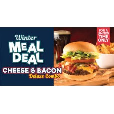 Cheese & Bacon Deluxe Meal Combo